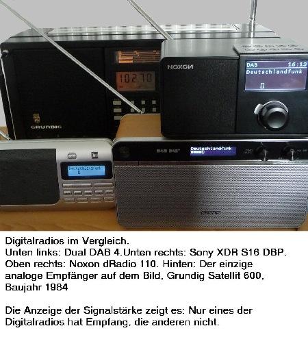 signalempfang digitalradio schwankt
